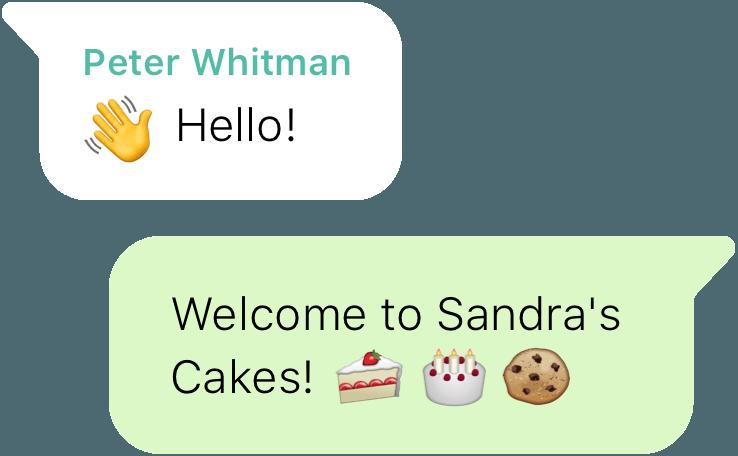 mensjae de bienvenida